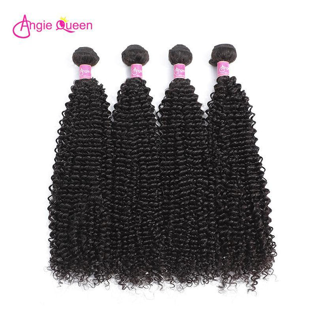 Angie Queen 3 Bundles Peruvian Curly Virgin Human Hair Weave Bundles