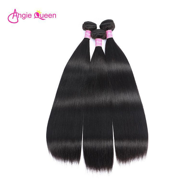 Angie Queen 4 Bundles Malaysian Silky Straight Virgin Human Hair Weave Bundles