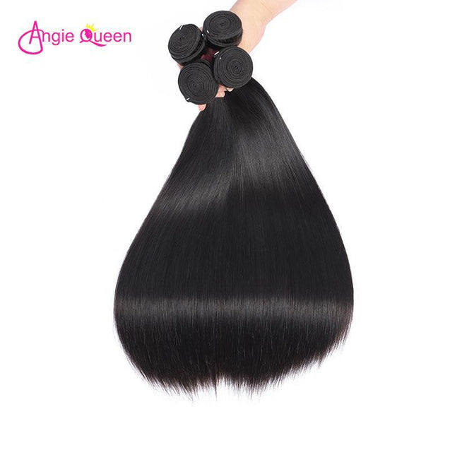 Angie Queen 1 Bundle Brazilian Silky Straight Virgin Human Hair Weave Bundles