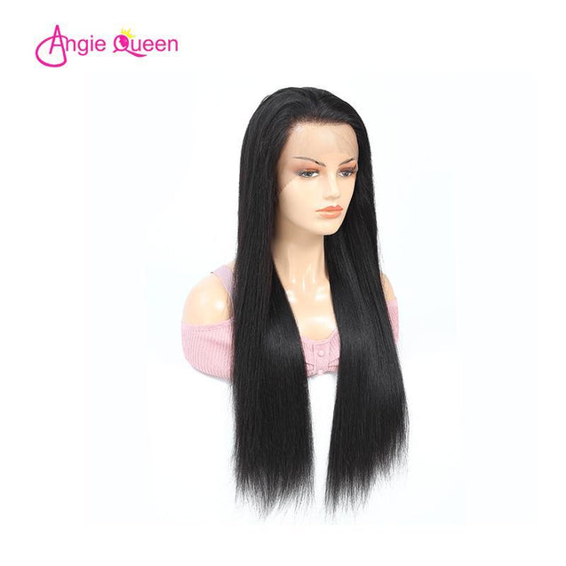 Angie Queen Full Lace Wigs Brazilian Straight Human Hair Wigs