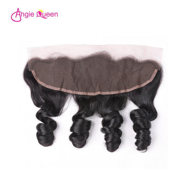 Angie Queen 3 Bundles with Frontal Brazilian Loose Wave Virgin Human Hair Weave Bundles