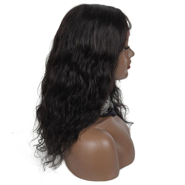 Angiequeen Natural  Wave Closure Wig Pre Plucked  Clsoure Wig 16inches