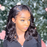 Angiequeen Closure Wig Right Side Lace Part Wigs Body Wave Pre Plucked With Baby Hair 16inches