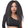 angiequeen Short Yaki Wig Curly Wave Pre Plucked With Baby Hair 16inches