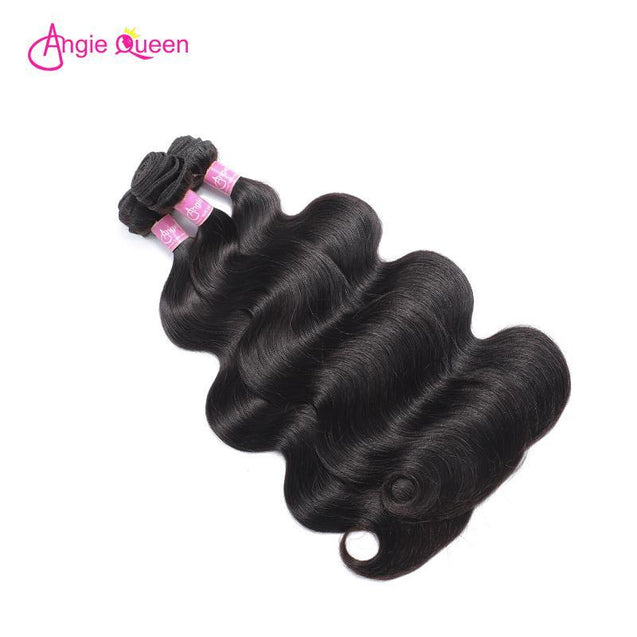 Angie Queen 4 Bundles Brazilian Body Wave Virgin Human Hair Weave Bundles