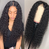 Angie Queen 4*4 Lace Closure Wigs Malaysian Curly Human Hair Wigs 180% Density Pre-plucked