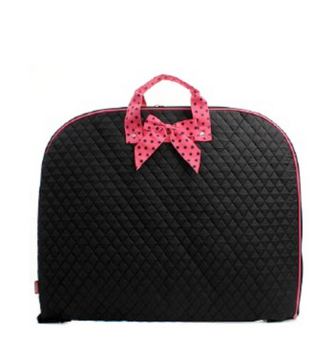 Solid w/ Polka Dot Bow Diaper Bag Set