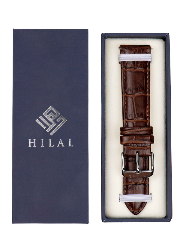 BRACELET CUIR MARRON - HILAL WATCHES