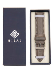 BRACELET CUIR GRIS - HILAL WATCHES