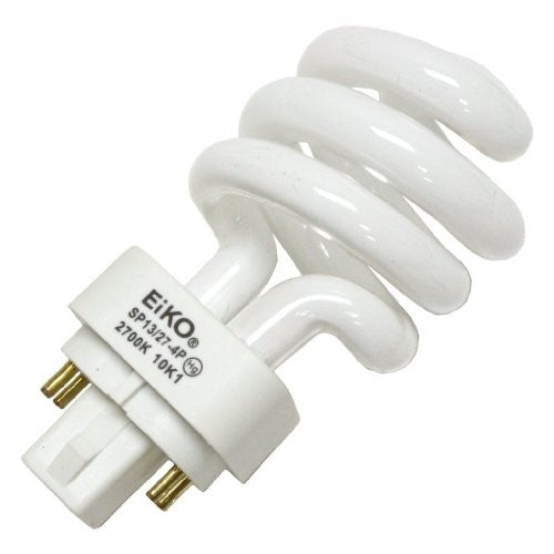 EiKO 05251 SP13/27-4P 13W 2700K 4 Pin Base Compact Fluorescent Spiral Bulb