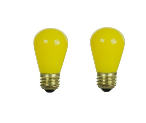 SUNLITE 11S14Y-I 11W S14 Ceramic Yellow Lamp 120V Medium Base Bulb