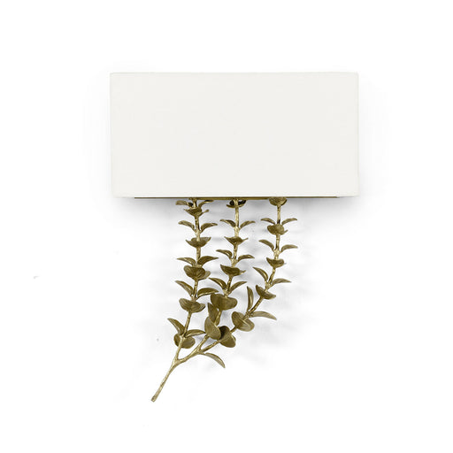 Palecek 2470-79 Eucalyptus Brass Shaded Sconce Right Facing
