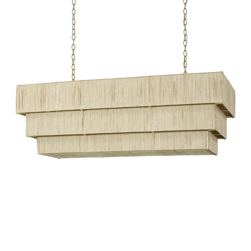 Palecek 2632-79 Everly Rope Tiered 48 Inch Linear Chandelier