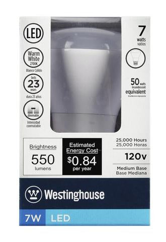 Westinghouse Lighting 33050 7R20/LED/DIM/27K 7 Watt LED R20 Flood Lamp Dimmable 27K