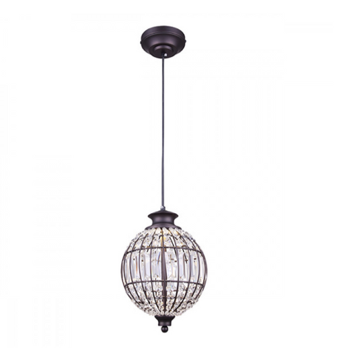 "Canarm Tilly 9"" Crystal LED Pendant Oil Rubbed Bronze LPL145A09ORB"