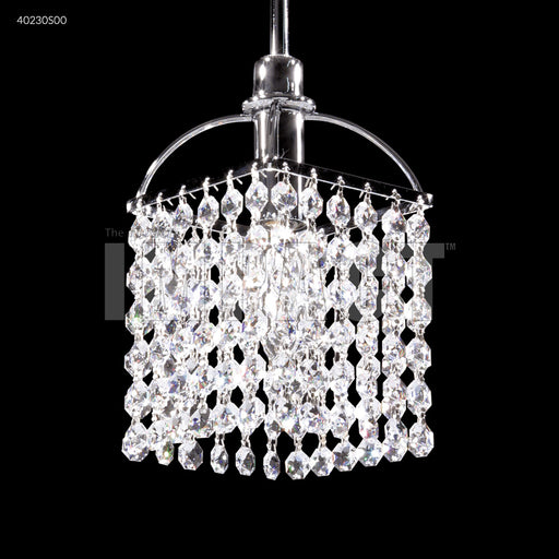 James R. Moder Contemporary Single Light Crystal Pendant