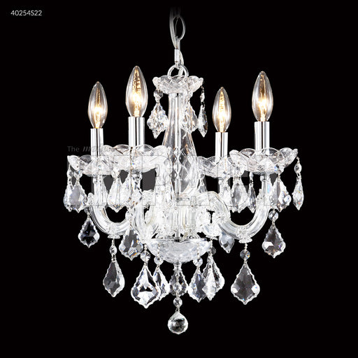 Maria Theresa 4 Light Chandelier In Silver