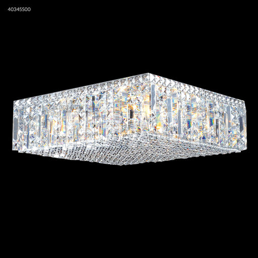 "James R. Moder 20"" Square Contemporary Flush Mount Crystal Chandelier"