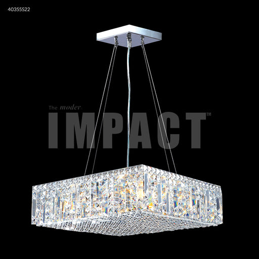 "James R. Moder 20"" Square Hanging Contemporary Crystal Chandelier"