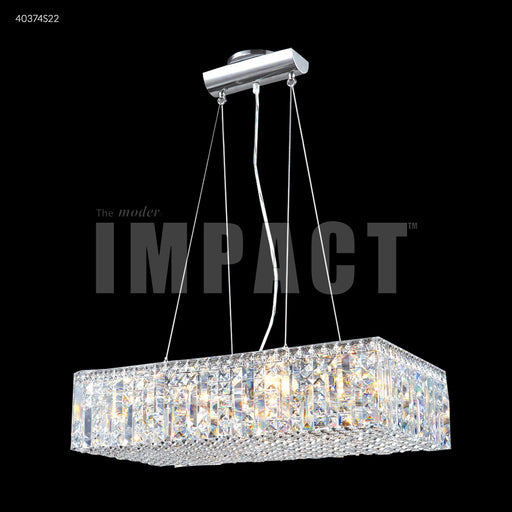 "James R. Moder 24"" Elongated Hanging Contemporary Crystal Chandelier"