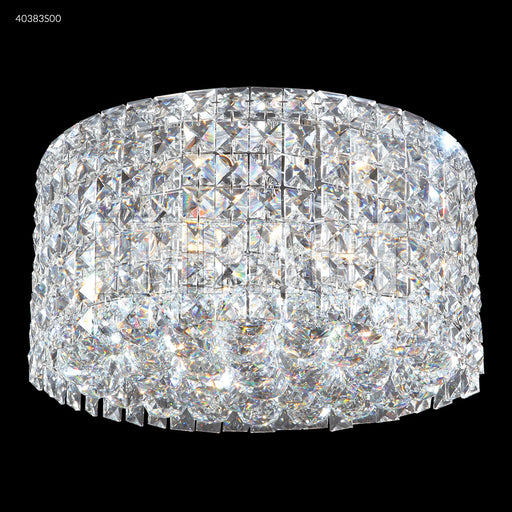 James R. Moder Large Contemporary Flush Mount Crystal Chandelier