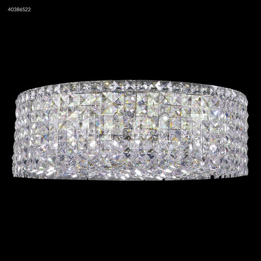 James R. Moder Medium Contemporary Flush Mount Crystal Chandelier