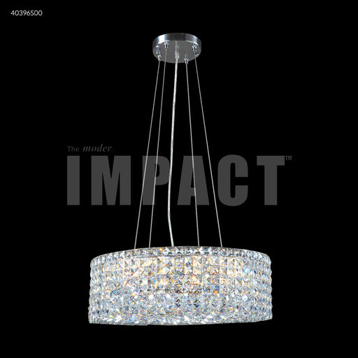 "James R. Moder 20"" Round Contemporary Crystal Chandelier"
