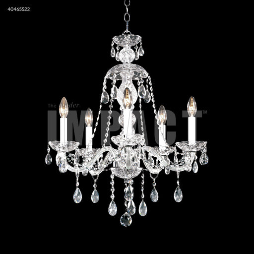 James R Moder Palace Ice 5 Arm Chandelier