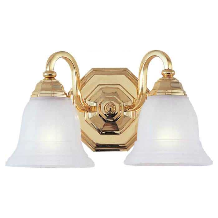 Sea Gull Lighting Blakely 4058-02 Gold Polished 2 Bath Sconce 2 Light Fixture