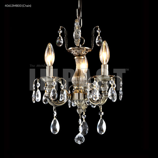 James R Moder Brindisi 3 Arm Dual Mount Mini Chandelier