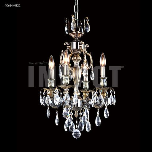 James R Moder Brindisi 4 Arm Chandelier
