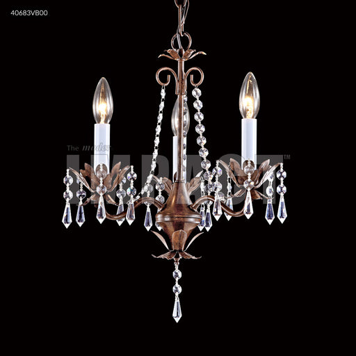 James R Moder 3 Arm Mini Crystal Chandelier