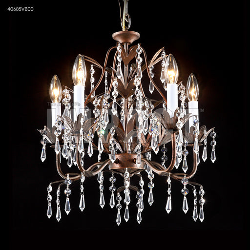 James R Moder 5 Arm Mini Crystal Chandelier