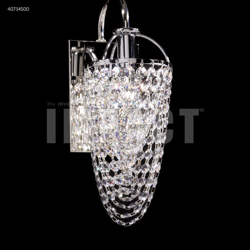 James R Moder Contemporary Crystal Basket Wall Sconce
