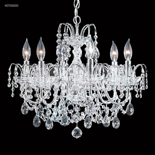 James R Moder Regalia 6 Arm Swarovski Crystal Chandelier