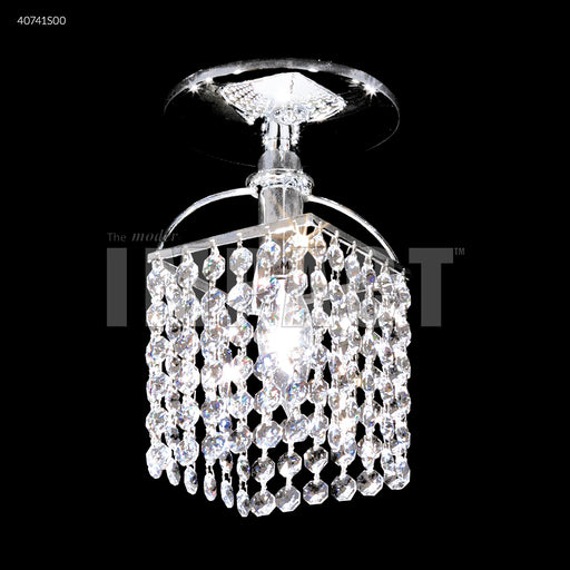 James R Moder Small Contemporary Flush Mount Square Chandelier