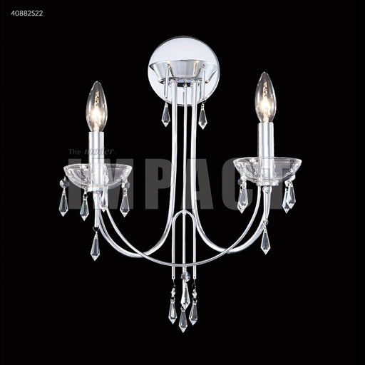 James R Moder Crystal Rain Two Arm Wall Sconce