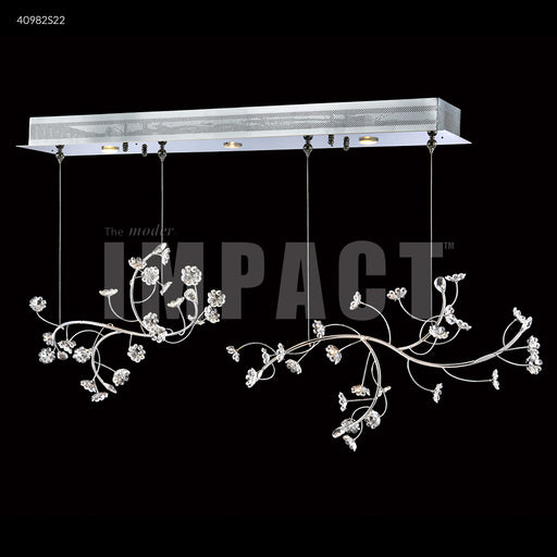 James R Moder Crystal Rain Double Floral Branch Chandelier