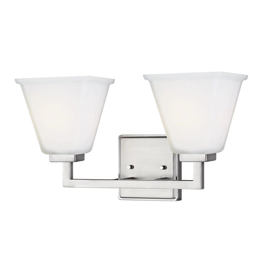 SeaGull Ellis Harper Brushed Nickel Two Light Bath Vanity