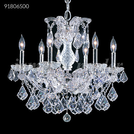 James R Moder Maria Theresa Grand 6 Arm Crystal Chandelier