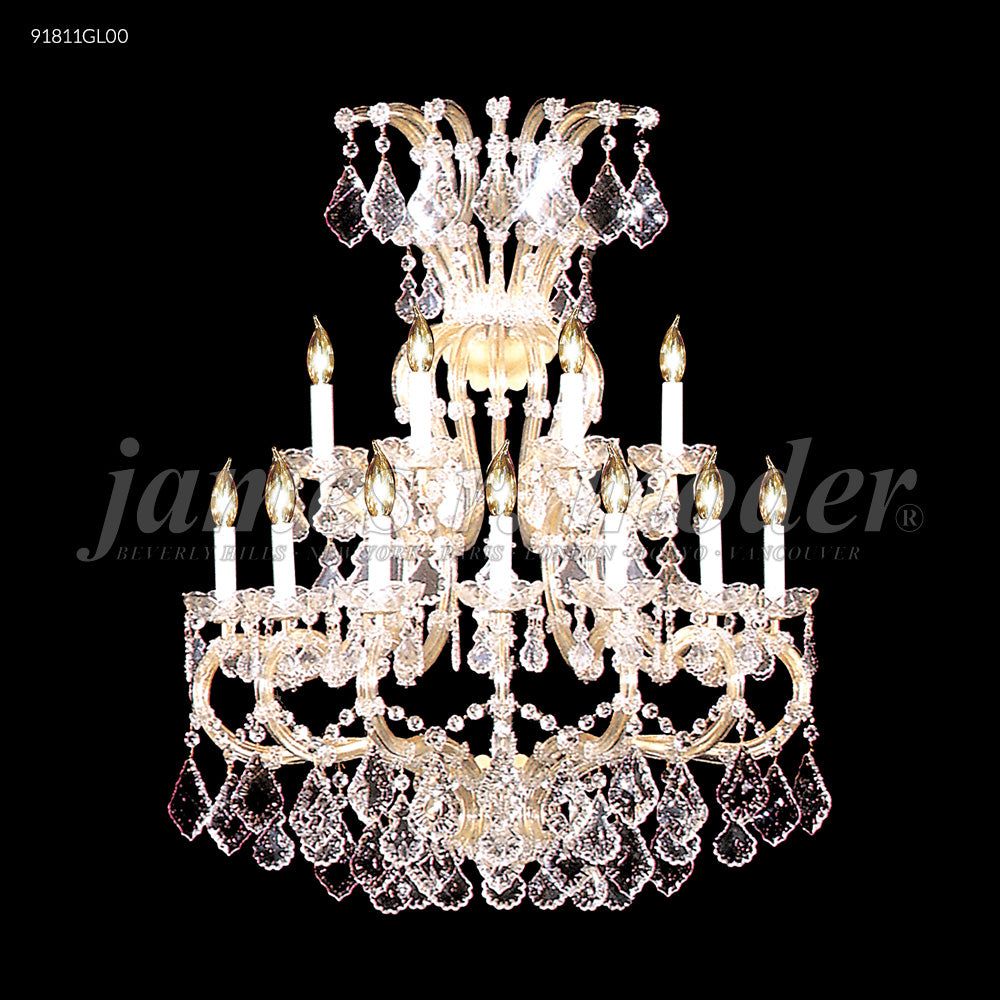 James R Moder Maria Theresa Grand 11 Light Wall Sconce