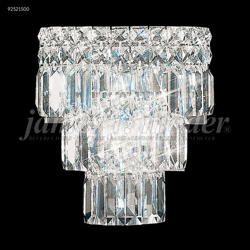 James R Moder Prestige All Crystal Tiered Wall Sconce