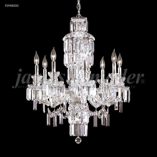 James R Moder Buckingham 8 Arm Crystal Chandelier