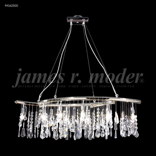 James R Moder Adjustable Broadway Bar Linear Chandelier