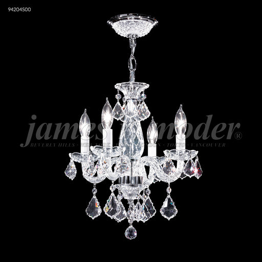 James R Moder Vienna 4 Glass Arm Pendant