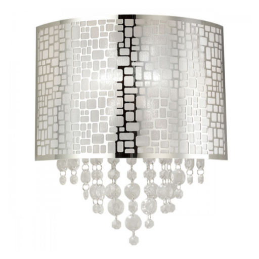 Canarm IWL394A11CH Benito Chrome and Crystal Wall Sconce