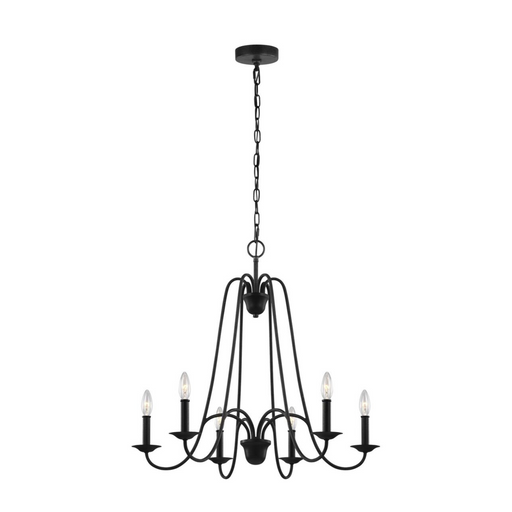 SeaGull Boughton Antique Forged Iron Six Light Chandelier