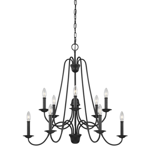 SeaGull Boughton Antique Forged Iron Ten Light Chandelier