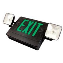 Exit Emergency Combo Sign Green/Black