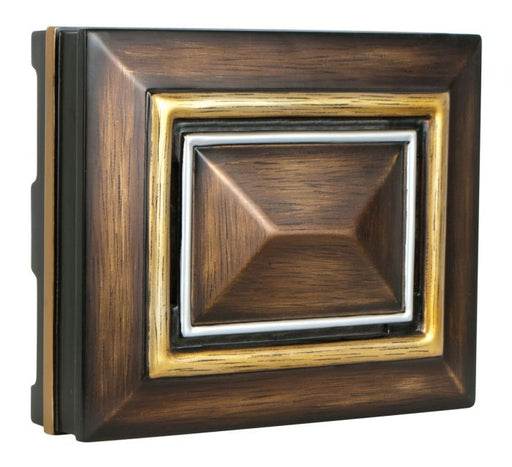 Craftmade Rectangle Chime in Dark Oak Gold & Silver CH-1202-DO